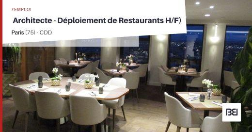 ARCHITECTE - DÉPLOIEMENT DE RESTAURANTS