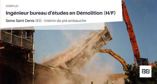INGÉNIEUR BUREAU D'ÉTUDES EN DÉMOLITION