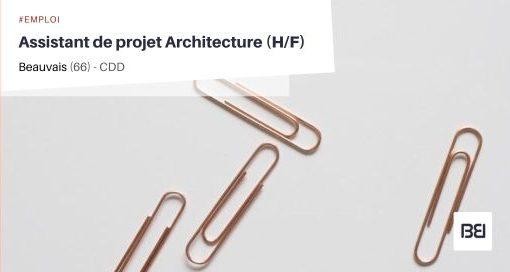 ASSISTANT DE PROJET ARCHITECTURE