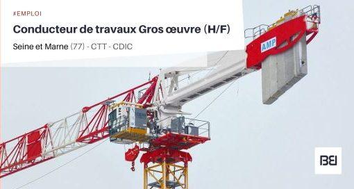 CONDUCTEUR DE TRAVAUX GROS ŒUVRE