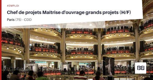 CHEF DE PROJETS MAITRISE D'OUVRAGE GRANDS PROJETS