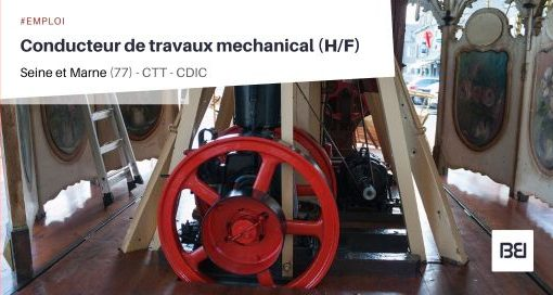 CONDUCTEUR DE TRAVAUX MECHANICAL
