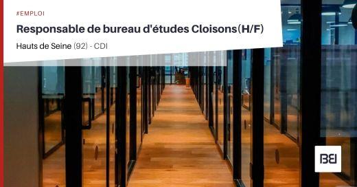 RESPONSABLE DE BUREAU D'ÉTUDES CLOISONS