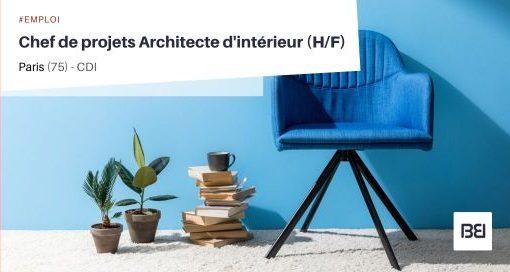 CHEF DE PROJETS ARCHITECTE D'INTÉRIEUR