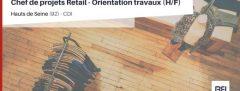 CHEF DE PROJETS RETAIL - ORIENTATION TRAVAUX