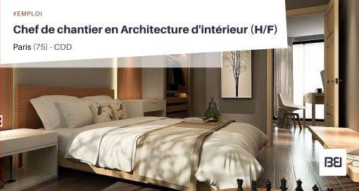 CHEF DE CHANTIER EN ARCHITECTURE D'INTÉRIEUR