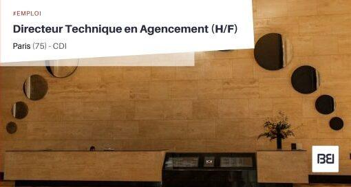DIRECTEUR TECHNIQUE EN AGENCEMENT