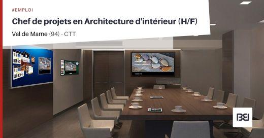 CHEF DE PROJETS EN ARCHITECTURE D'INTÉRIEUR