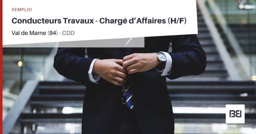 CONDUCTEUR TRAVAUX - CHARGÉ D'AFFAIRES