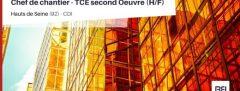 CHEF DE CHANTIER - TCE SECOND OEUVRE