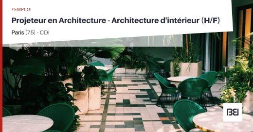 PROJETEUR EN ARCHITECTURE - ARCHITECTURE D'INTÉRIEUR