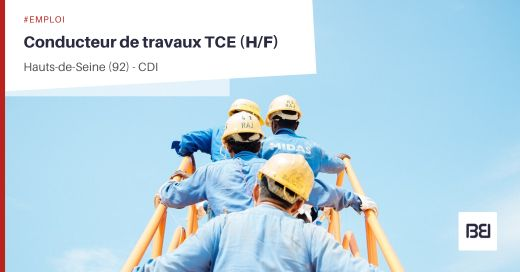 CONDUCTEUR DE TRAVAUX TCE