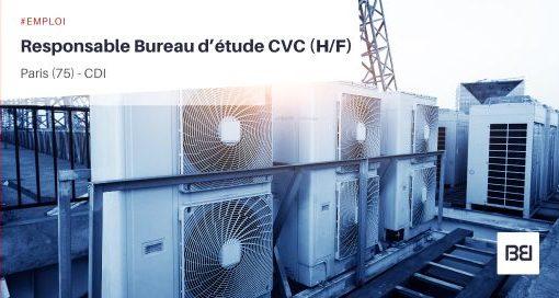 RESPONSABLE BUREAU D'ÉTUDE CVC