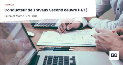 CONDUCTEUR DE TRAVAUX SECOND OEUVRE