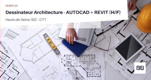 DESSINATEUR ARCHITECTURE - AUTOCAD - REVIT