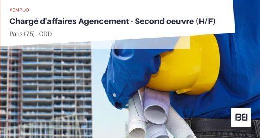 CHARGÉ D'AFFAIRES AGENCEMENT - SECOND OEUVRE