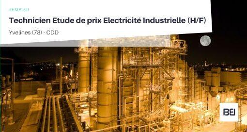 TECHNICIEN ETUDE DE PRIX ELECTRICITÉ INDUSTRIELLE
