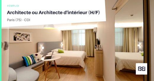 ARCHITECTE OU ARCHITECTE D'INTÉRIEUR