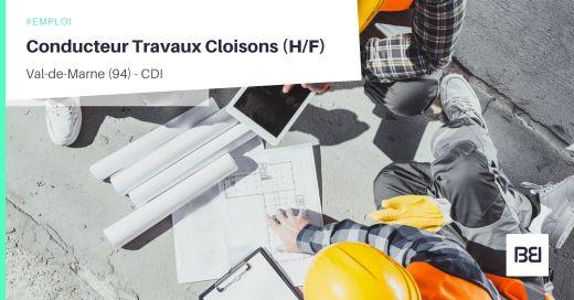 CONDUCTEUR TRAVAUX CLOISONS