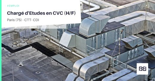 CHARGÉ D'ETUDES EN CVC