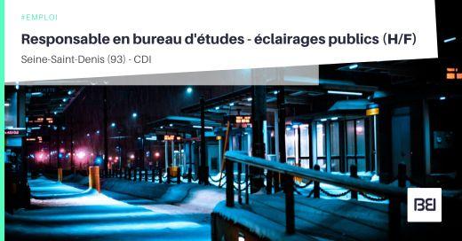 RESPONSABLE EN BUREAU D'ÉTUDES - ÉCLAIRAGES PUBLICS