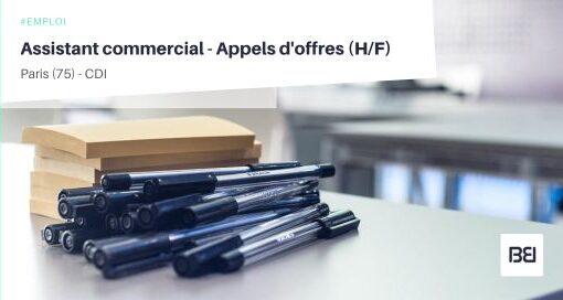 ASSISTANT COMMERCIAL - APPELS D'OFFRES