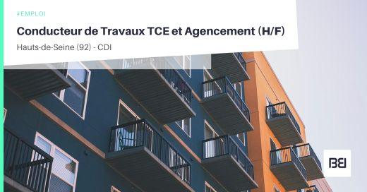 CONDUCTEUR DE TRAVAUX TCE ET AGENCEMENT