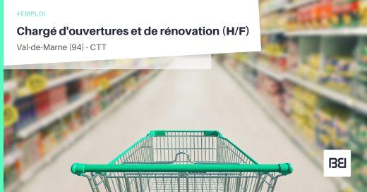 CHARGÉ D'OUVERTURES ET DE RÉNOVATION