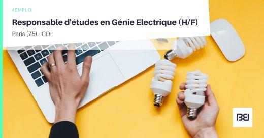 RESPONSABLE D'ÉTUDES EN GÉNIE ELECTRIQUE