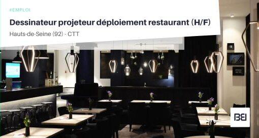 DESSINATEUR PROJETEUR DÉPLOIEMENT RESTAURANT