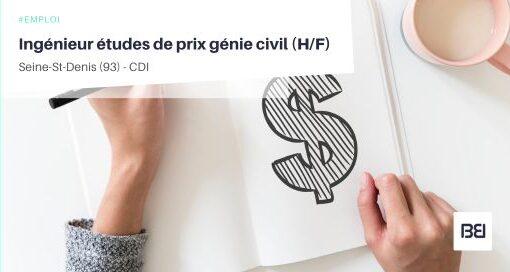 INGÉNIEUR ÉTUDES DE PRIX GÉNIE CIVIL