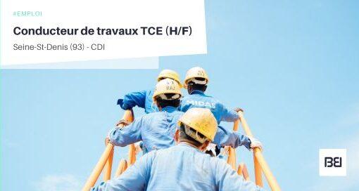 CONDUCTEUR DE TRAVAUX TCE