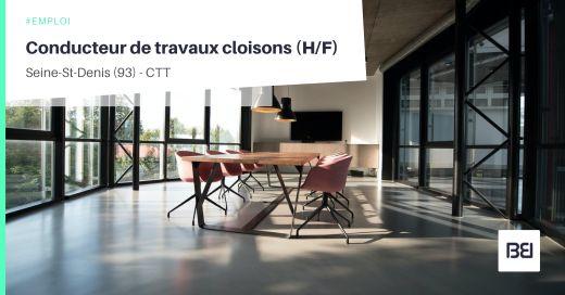 CONDUCTEUR DE TRAVAUX CLOISONS