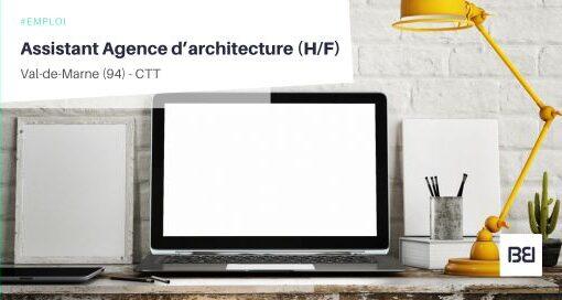 ASSISTANT AGENCE D'ARCHITECTURE