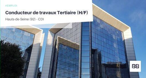 CONDUCTEUR DE TRAVAUX TERTIAIRE
