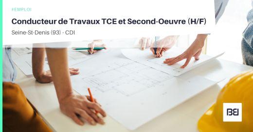 CONDUCTEUR DE TRAVAUX TCE ET SECOND-OEUVRE