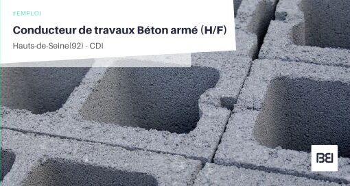 CONDUCTEUR DE TRAVAUX BÉTON ARMÉ