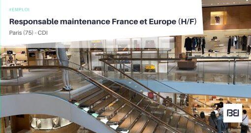 RESPONSABLE MAINTENANCE FRANCE ET EUROPE