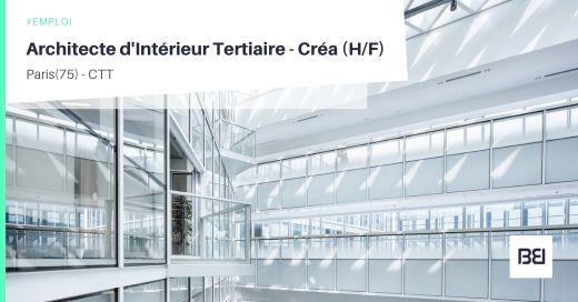 ARCHITECTE D'INTÉRIEUR TERTIAIRE - CRÉA