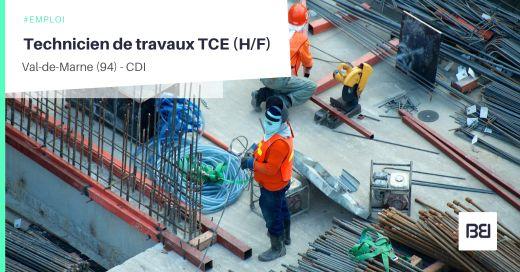 TECHNICIEN DE TRAVAUX TCE