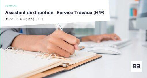 ASSISTANT DE DIRECTION - SERVICE TRAVAUX