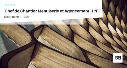CHEF DE CHANTIER MENUISERIE ET AGENCEMENT
