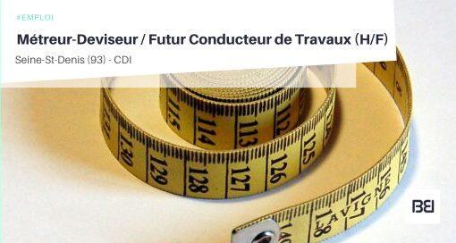 MÉTREUR-DEVISEUR / FUTUR CONDUCTEUR DE TRAVAUX