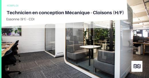 TECHNICIEN EN CONCEPTION MÉCANIQUE - CLOISONS