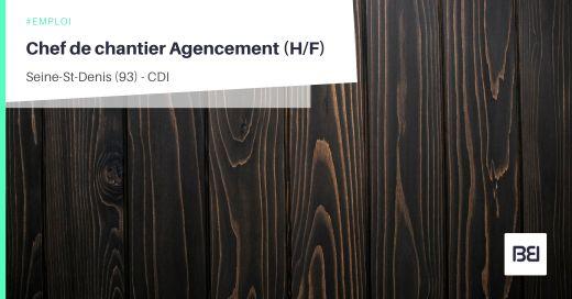 CHEF DE CHANTIER AGENCEMENT
