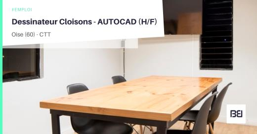DESSINATEUR CLOISONS - AUTOCAD