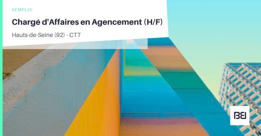 CHARGÉ D'AFFAIRES EN AGENCEMENT