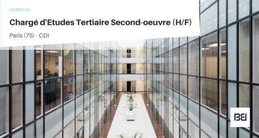 CHARGÉ D'ETUDES TERTIAIRE SECOND-OEUVRE