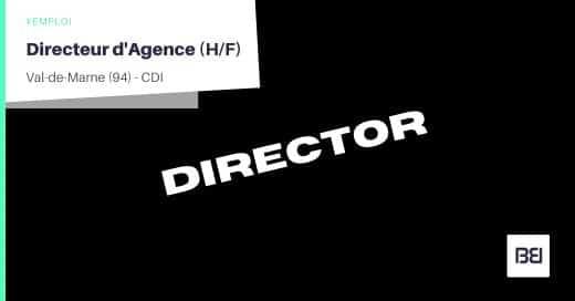 DIRECTEUR D'AGENCE