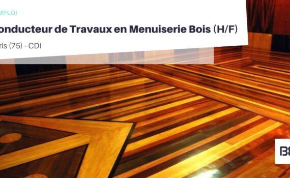 CONDUCTEUR DE TRAVAUX EN MENUISERIE BOIS